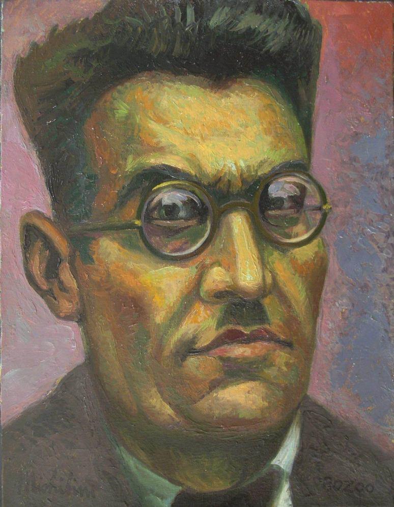 """Sergio Michilini, """"José Clemente Orozco"""", 2007, oleo sobre tela"""