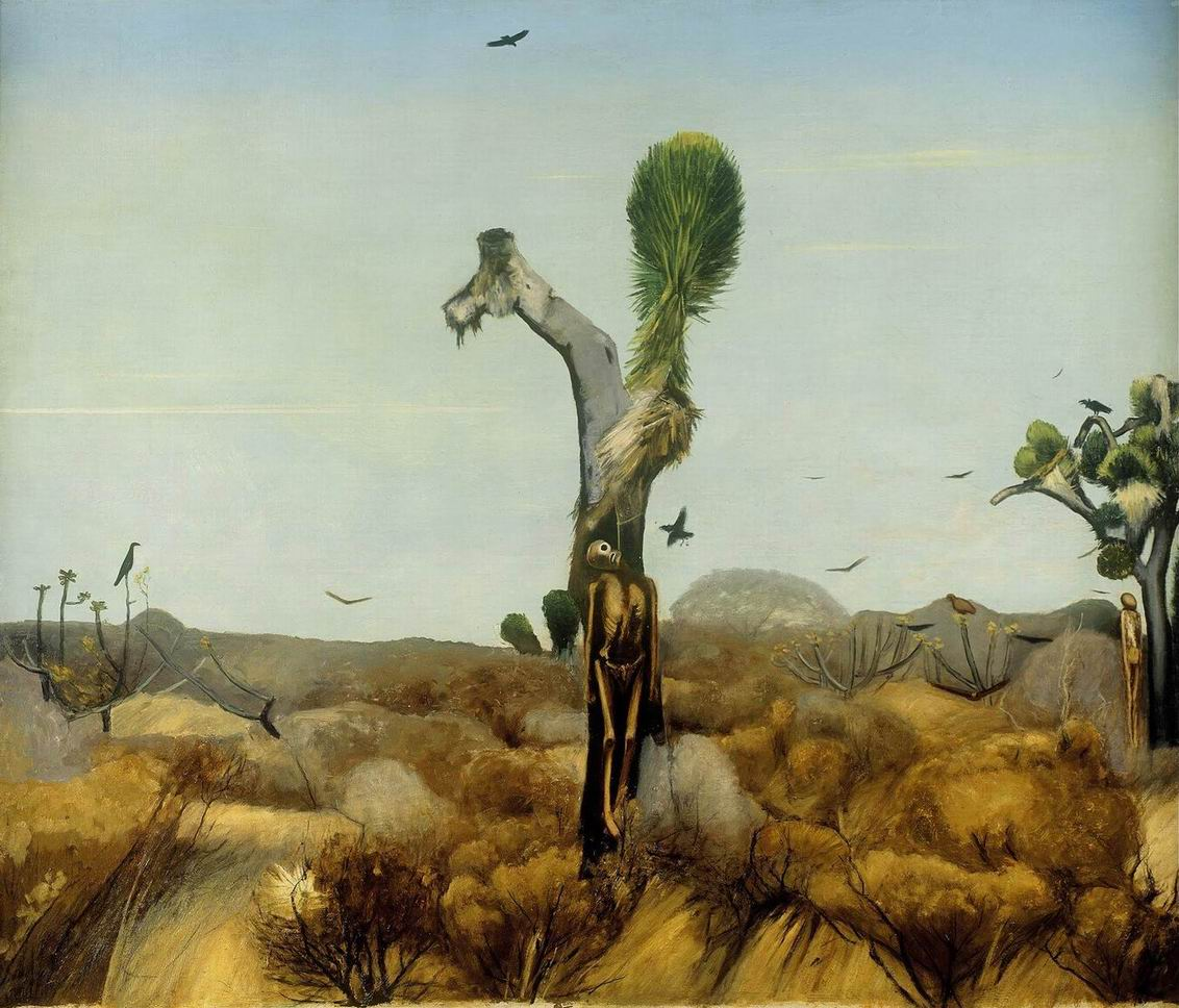 Francisco Goitia (1882 - 1960), Zacatecas, Paisaje de los ahorcados, 1914, óleo sobre tela, Museo Nacional de Arte México