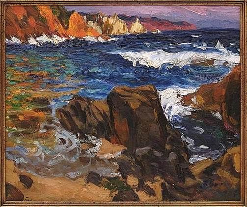 Francisco Goitia, Costa de Cataluña, óleo sobre tela