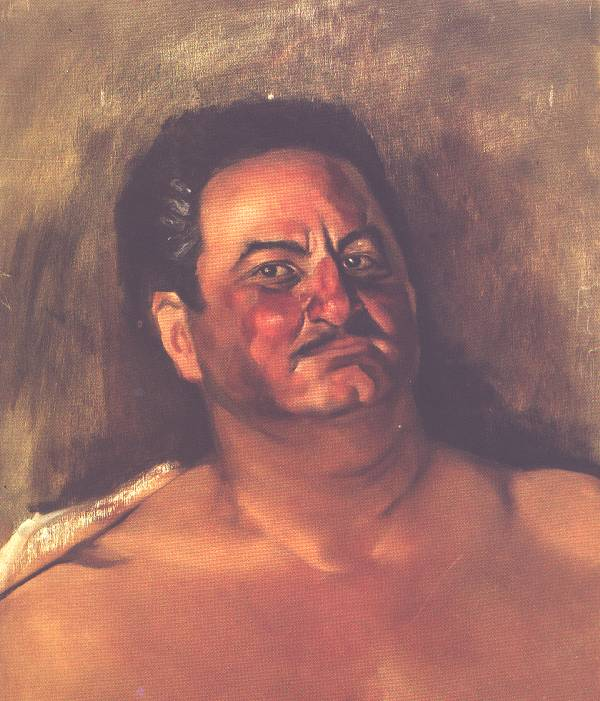 Francisco Goitia, Portrait of Andres Henestrosa, oil on masonite