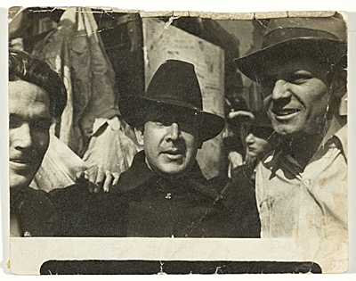George Cox, David Alfaro Siqueiros and Jackson Pollock in New York, 1936