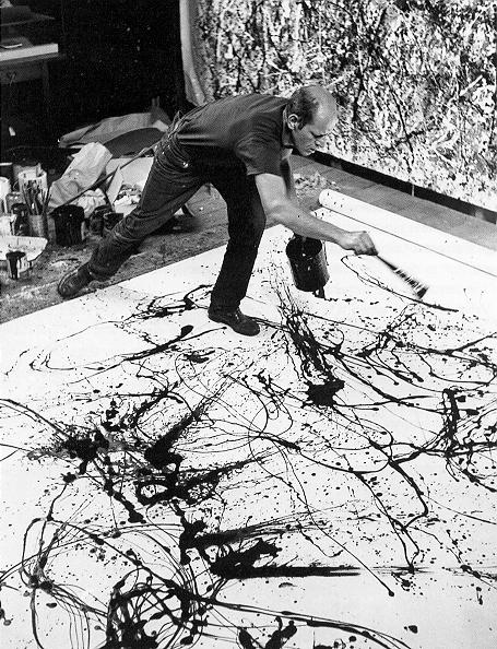 Jackson Pollock al lavoro
