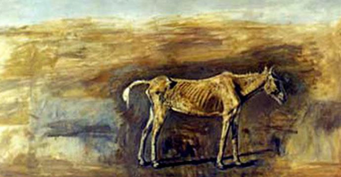 Francisco Goitia, el caballo famélico