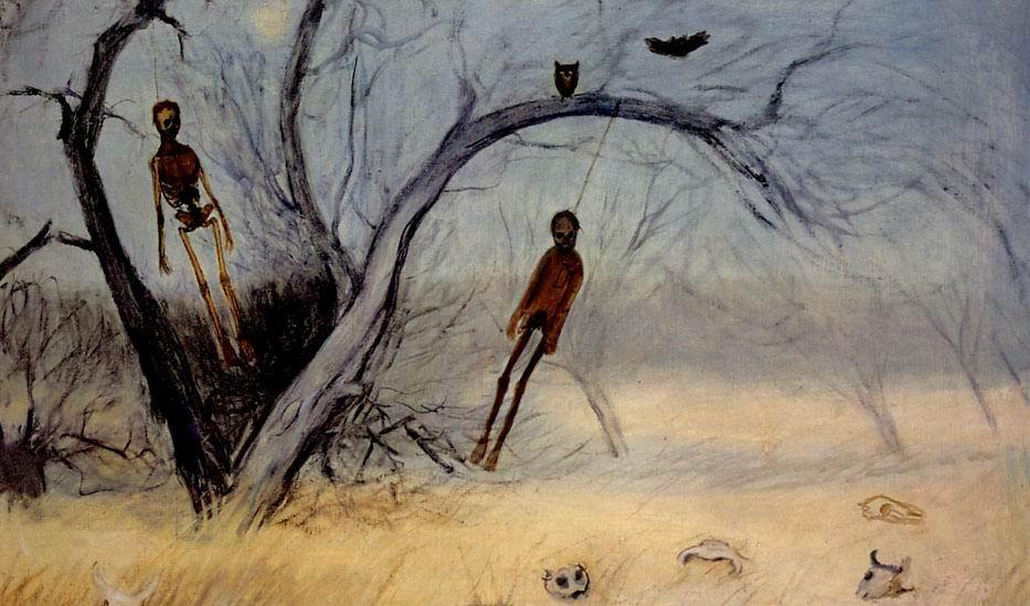 Francisco Goitia (1882 - 1960), Zacatecas, Paisaje de los ahorcados, 1914, óleo sobre tela