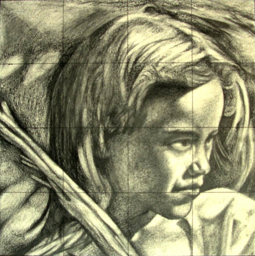 Michilini,1994, RITRATTO DI BAMBINA cm.20x20