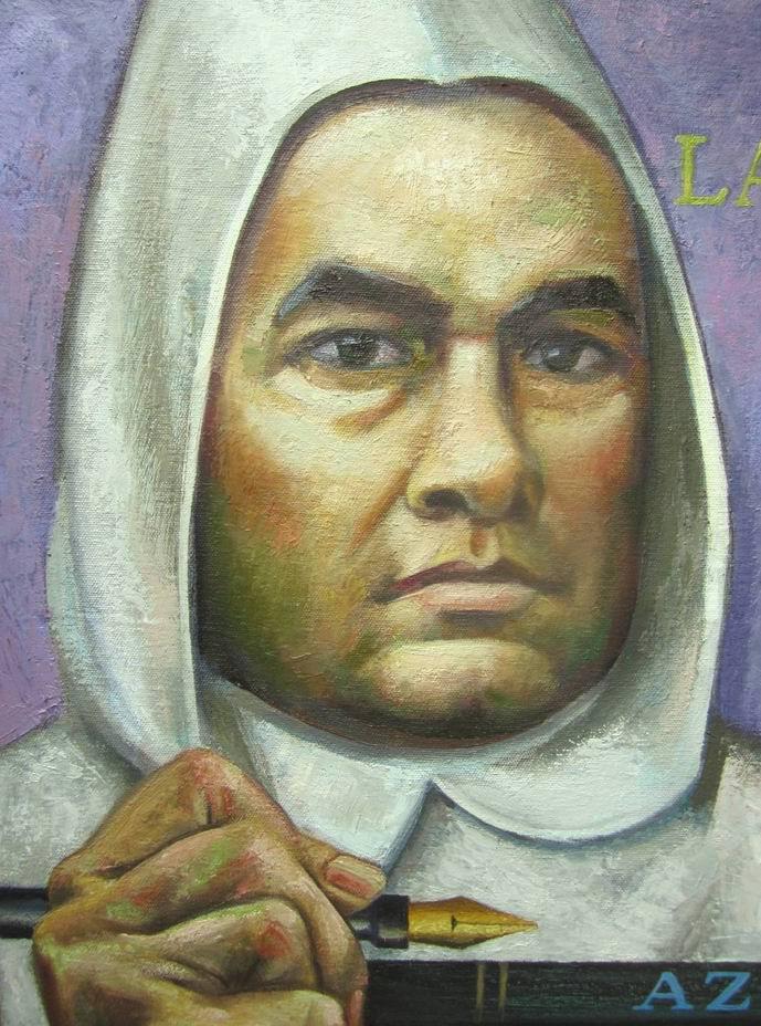 Sergio Michilini, ritratto di RUBEN DARIO, particolare