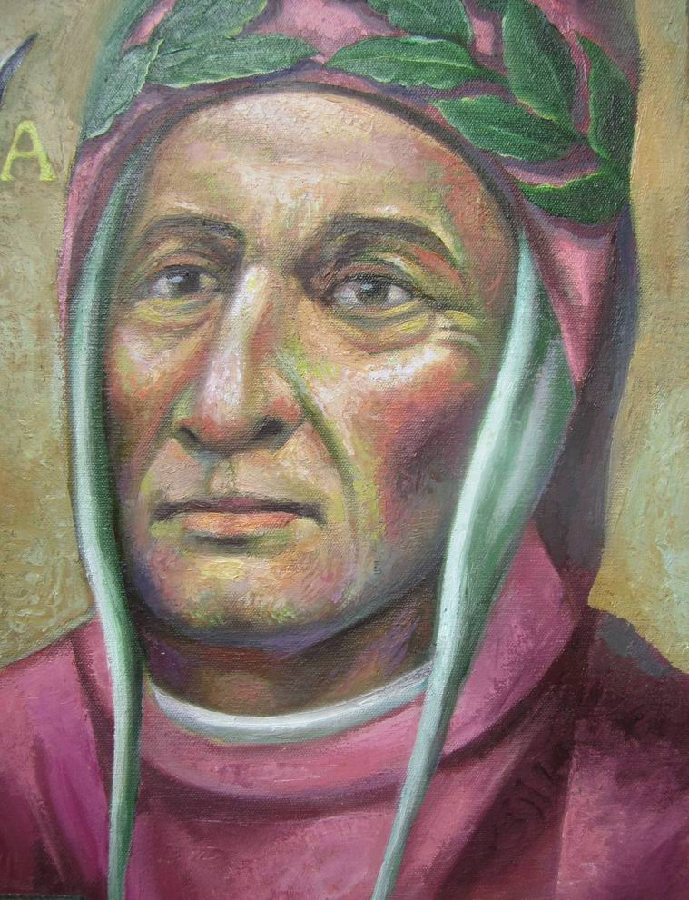 Sergio Michilini, ritratto di DANTE ALIGHIERI, particolare