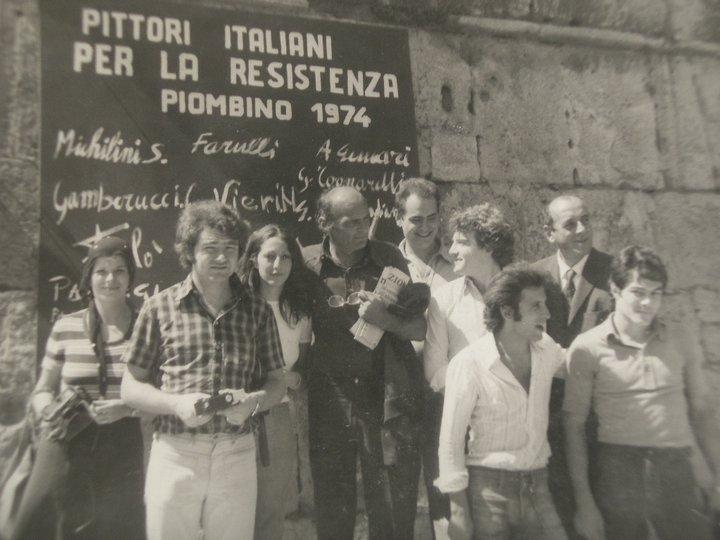 Nel centro il maestro Fernando Farulli, sulla sua sinistra: Anna Tondo e Gianfranco Tognarelli; sulla sua destra:Andrea Gennari, Adriano Bimbi e Giancarlo Splendiani