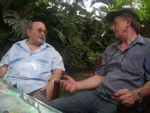 2013, con el Padre Miguel d'Escoto Brockmann