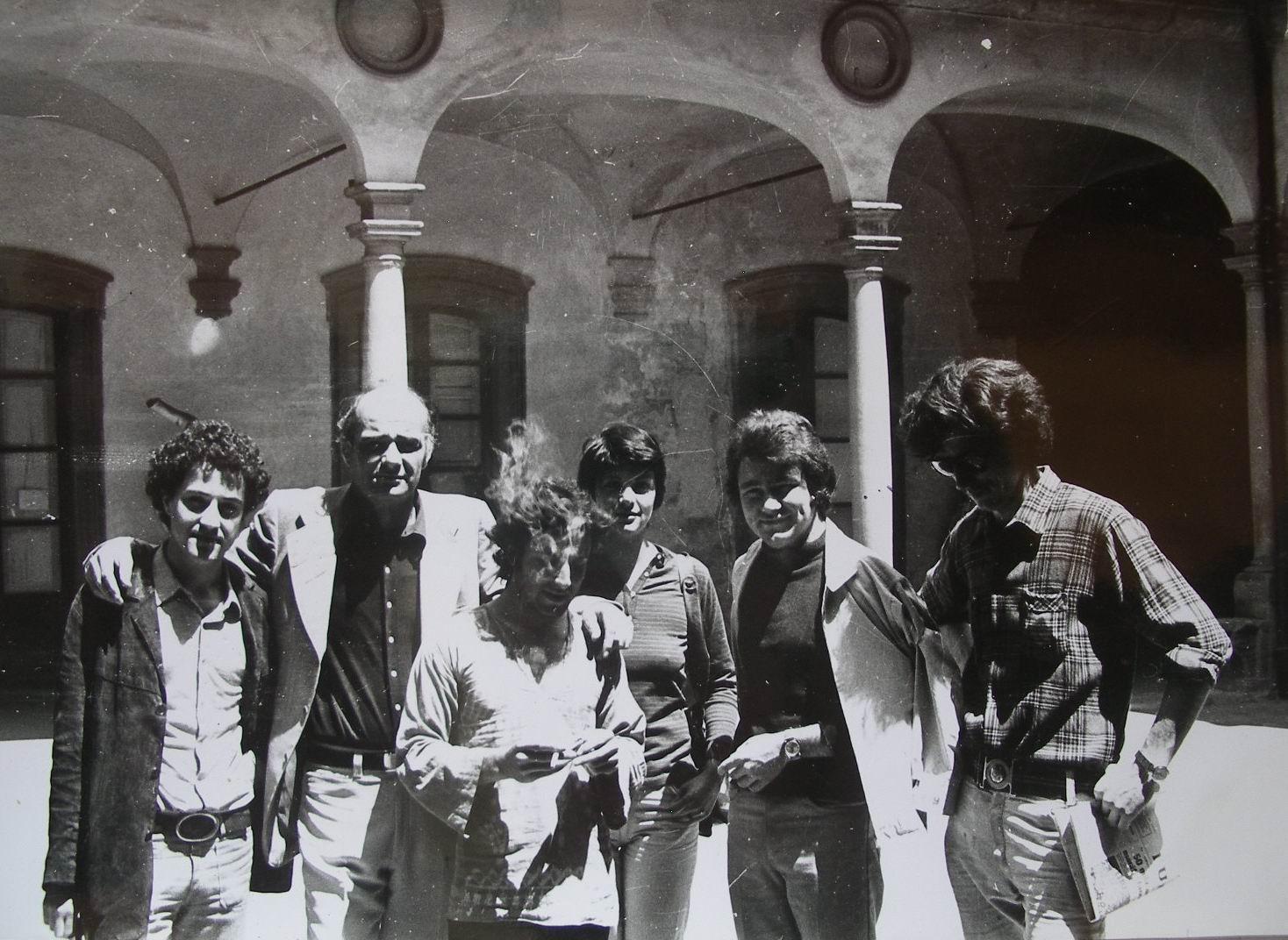 1973, en la Academia de Bellas Artes de Florencia - Italia, con nuestro maestro Fernando Farulli