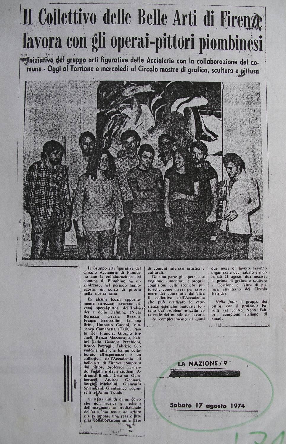 1974 La Nazione, 17 Agosto