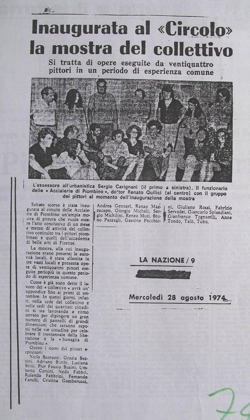 1974 La Nazione, 28 Agosto