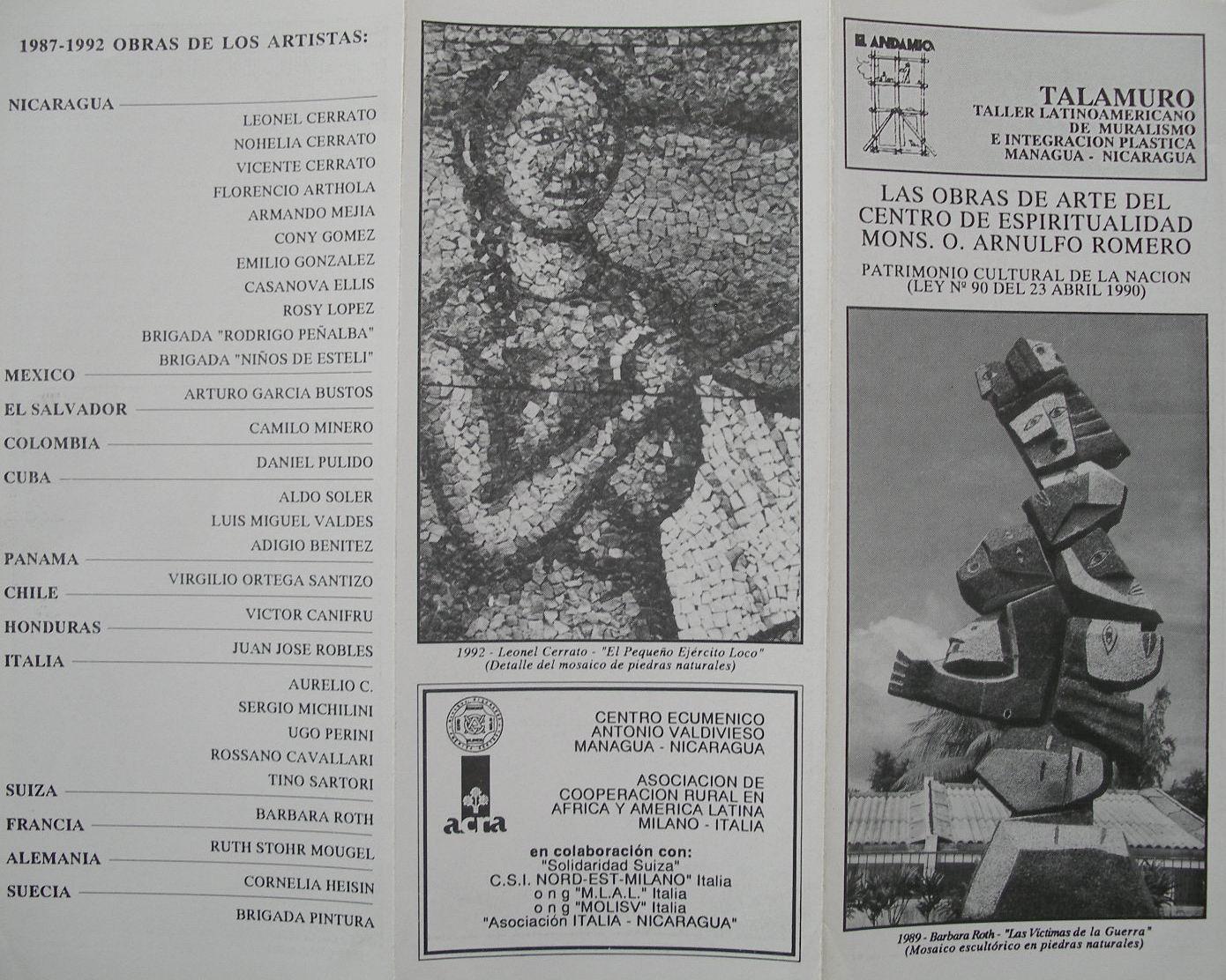 1992-1a Inaugurazione Progetto 500 anni, nel CEMOAR, Managua, Nicaragua