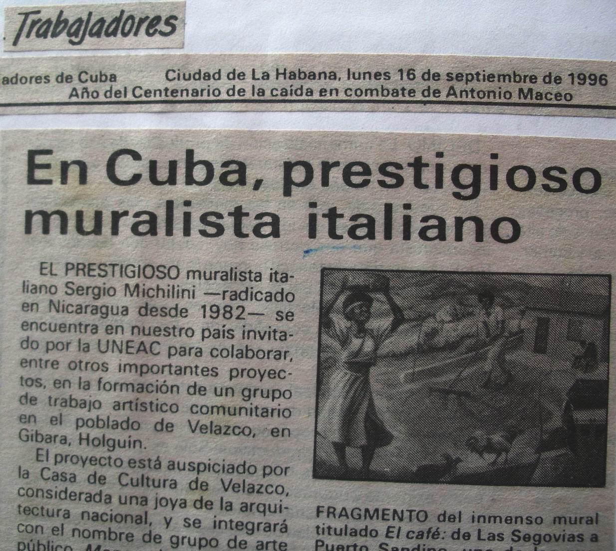 1996 Trabajadores, Cuba, 16 Settembre