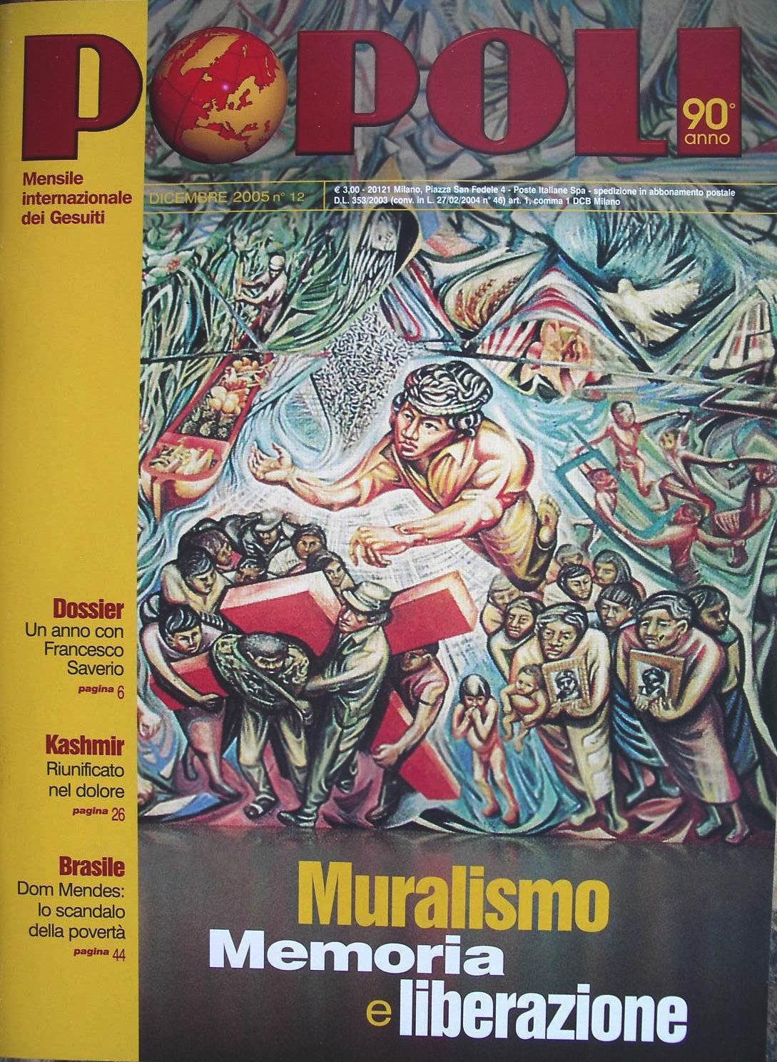 2005- La revista internacional de los jesuitas con el mural del riguero en la portada
