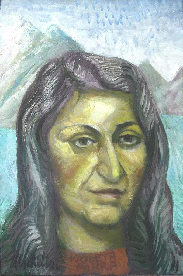 Michilini, retrato de VIOLETA PARRA, 2010