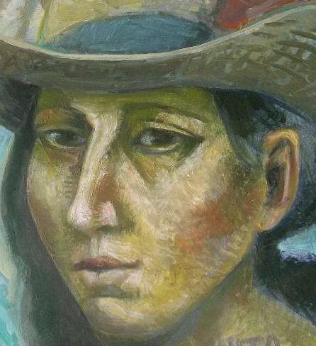 Michilini, retrato de ANITA GARIBALDI, detalle