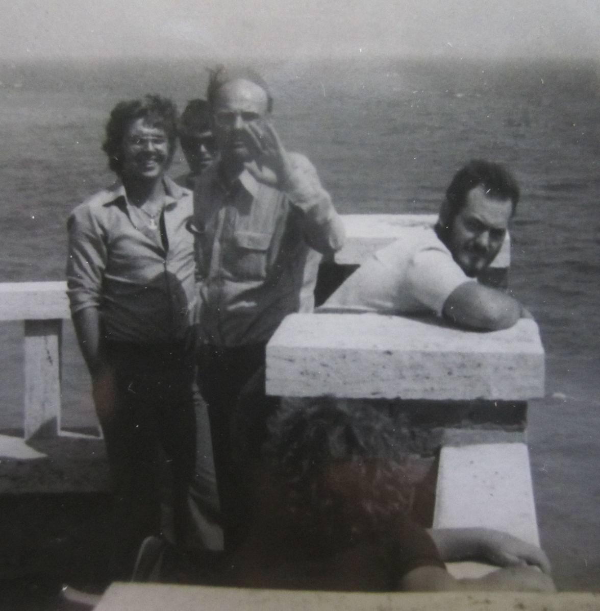 Piombino 1974, il maestro Fernando Farulli e, a destra, Andrea Gennari