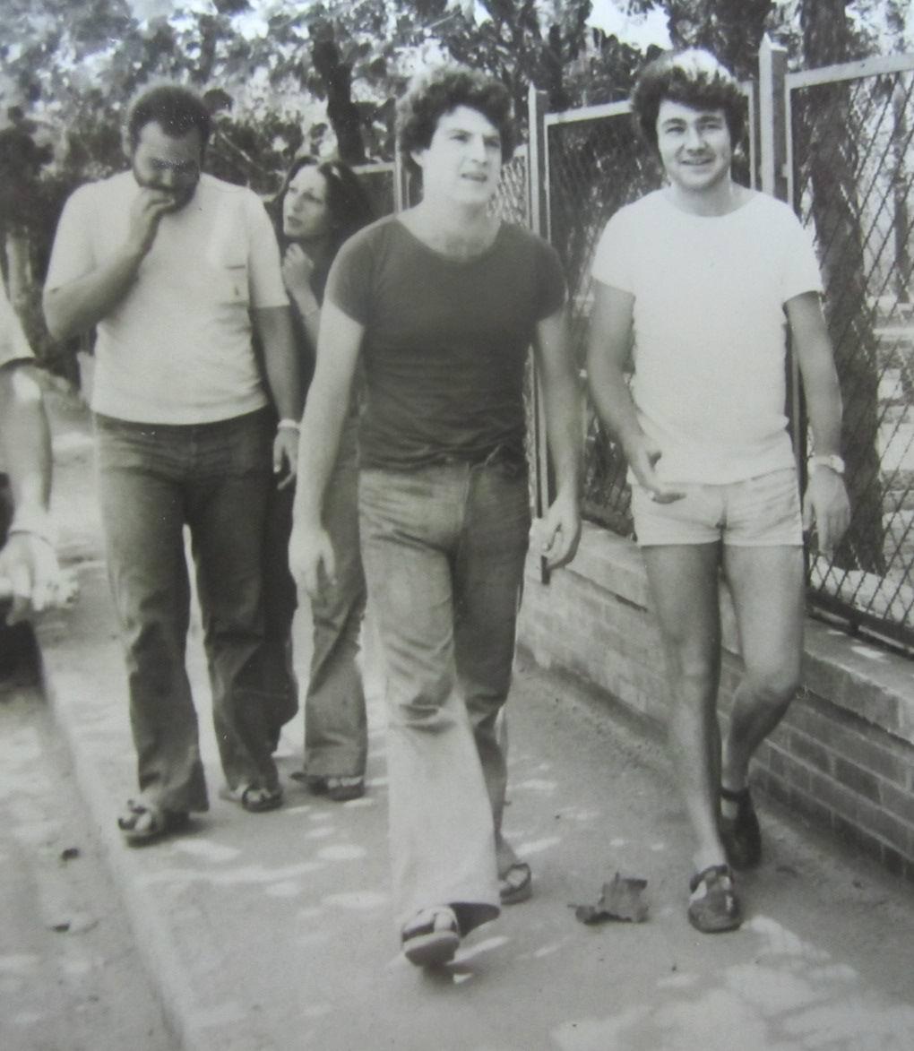 Piombino 1974, da sinistra a destra: Andrea Gennari, Anna Tondo, Adriano Bimbi e Gianfranco Tognarelli