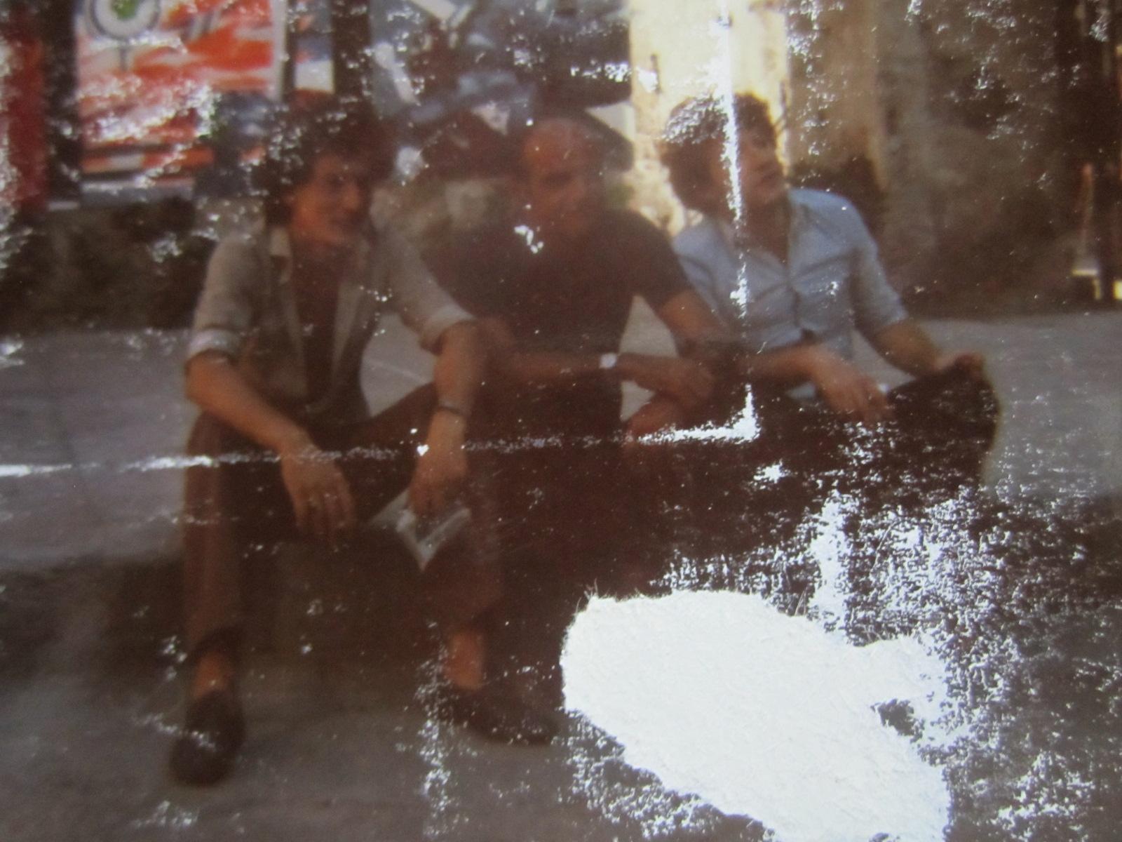 Piombino 1974, da destra verso sinistra: Adriano Bimbi, il maestro Fernando Farulli e Sergio Michilini