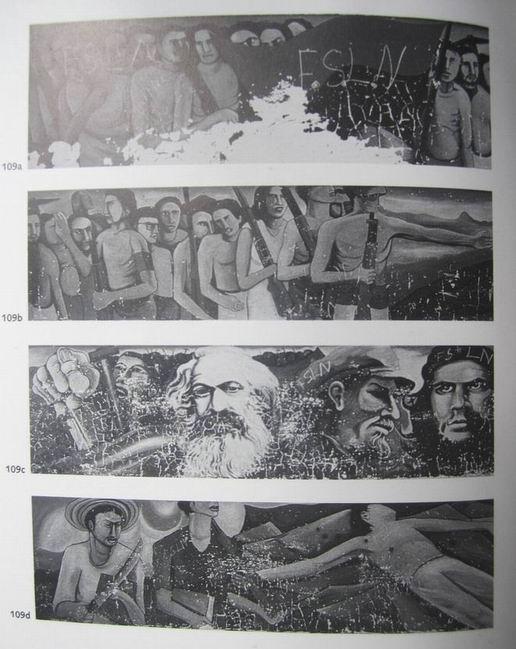 1  Santa Ana, Carr.Sur, MANAGUA, Insurreccion popular, cm.150x2500,octubre 1979, cod.n.109