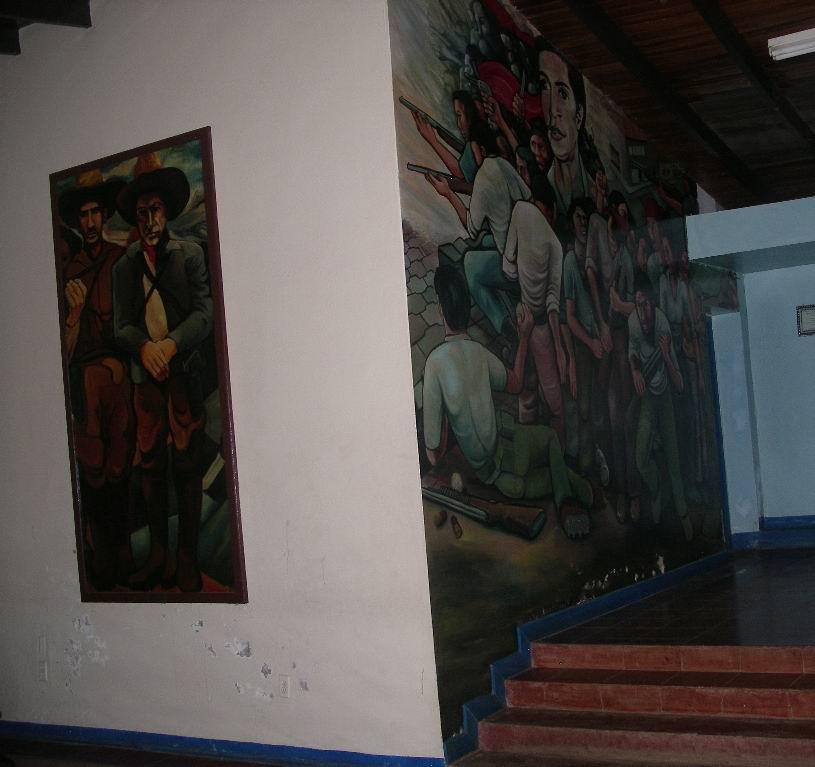 17 Academia de Policia, panel mobil, General SANTOS LOPEZ y A.C.SANDINO, cm.300x150 cod.n.56