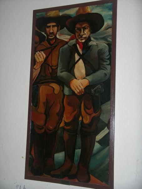 18 Academia de Policia, panel mobil, General SANTOS LOPEZ y A.C.SANDINO, cm.300x150 cod.n.56