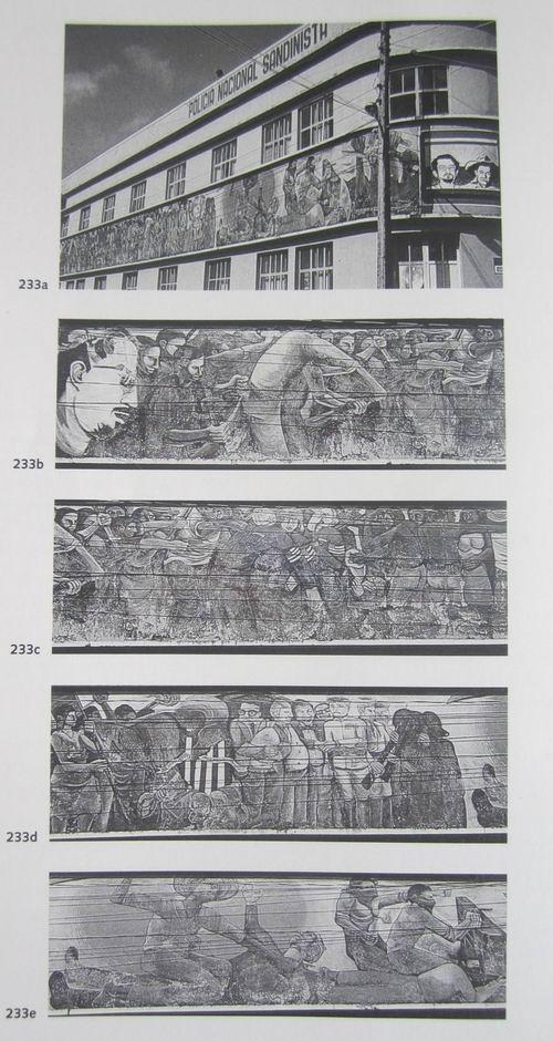 19  MATAGALPA, ex oficinas Policia Nacional Sandinista, Imperialismo e insurreccion popular, cm.300x2700,  enero 1980, cod.n.233