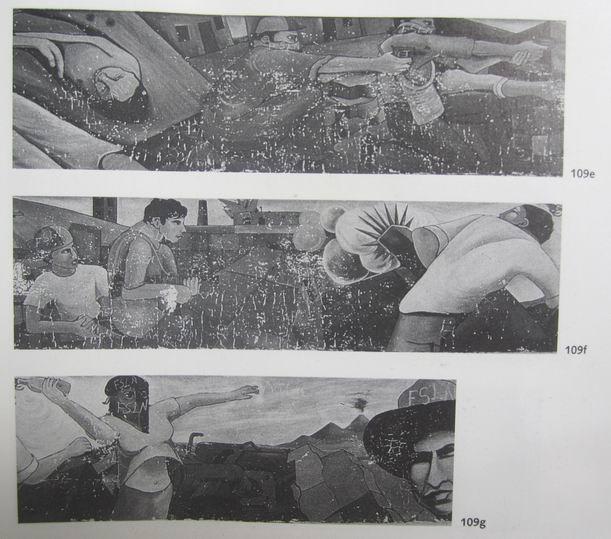 2   Santa Ana, Carr.Sur, MANAGUA, Insurreccion popular, cm.150x2500,octubre 1979, cod.n.109