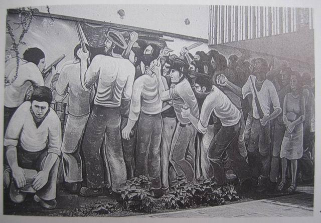 20 ESTELI, Centro Popular de Cultura, Barricada, cm.300x800, 1980, cod.n.156