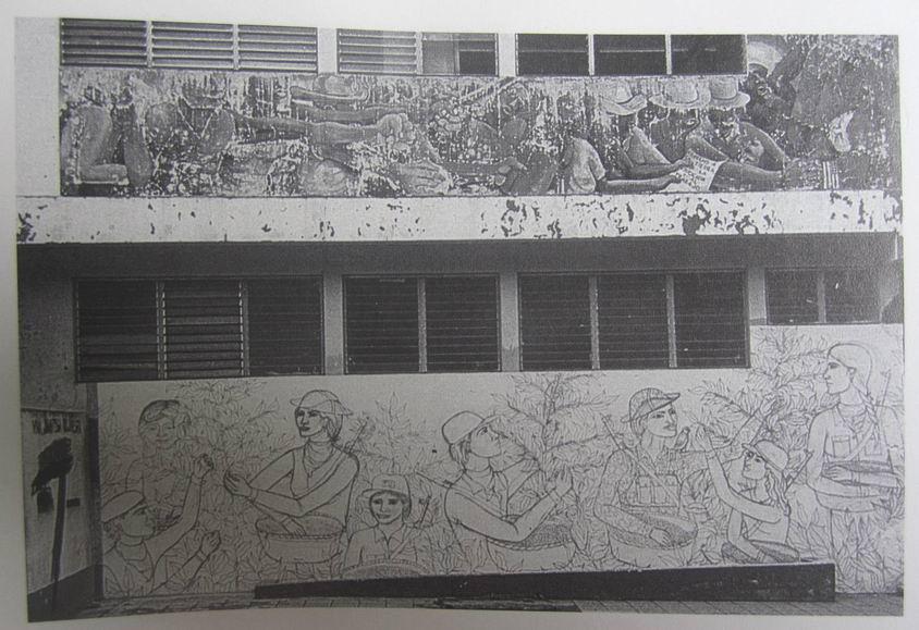 21  JINOTEGA,  antigua carceles somocistas, mural en alto, 1980, cod.n.180