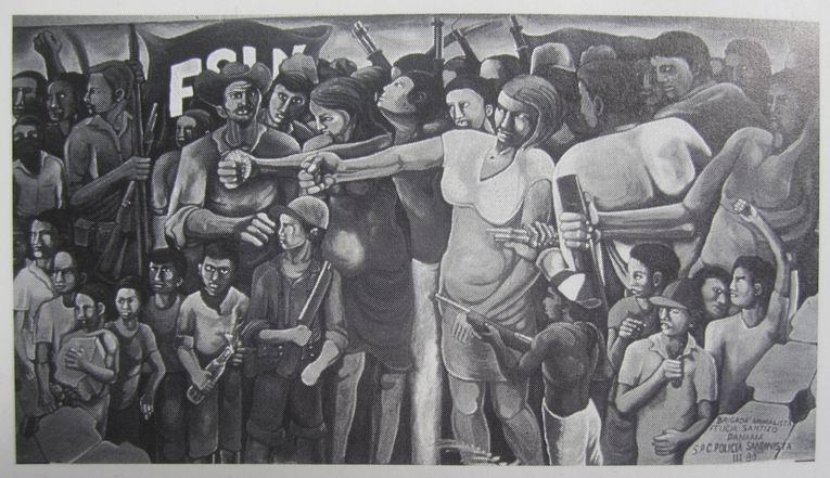 23  AEROPUERTO MANAGUA, Barricada, cm.300x600, marzo 1980 cod.n.15