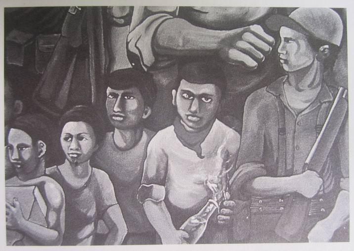 24   AEROPUERTO MANAGUA, Barricada, cm.300x600, marzo 1980 cod.n.15