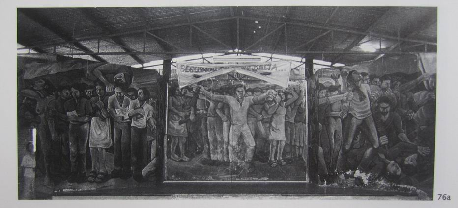 25  NICARAO MANAGUA, Insurreccion popular, cm.400x1500,octubre 1980, cod.n.76