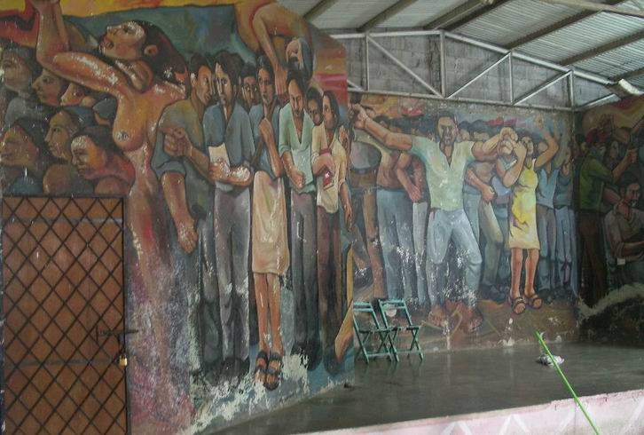 27 NICARAO MANAGUA, Insurreccion popular, cm.400x1500,octubre 1980, cod.n.76