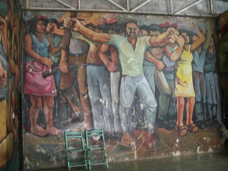 28 NICARAO MANAGUA, Insurreccion popular, cm.400x1500,octubre 1980, cod.n.76