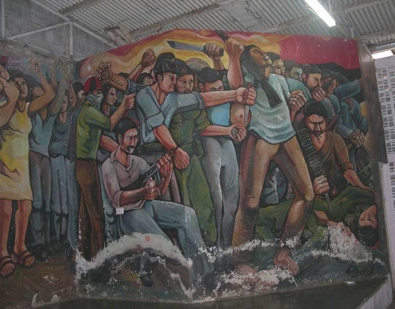 29  NICARAO MANAGUA, Insurreccion popular, cm.400x1500,octubre 1980, cod.n.76