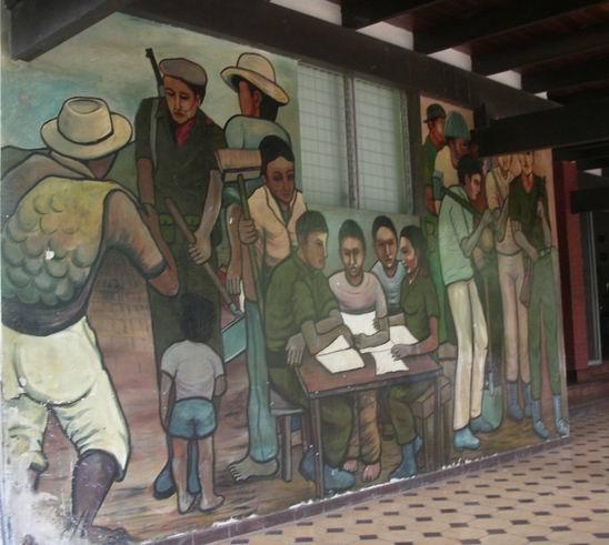 4 Academia de Policia MANAGUA, La Policia del pueblo, cm.300x600, cod.n.53
