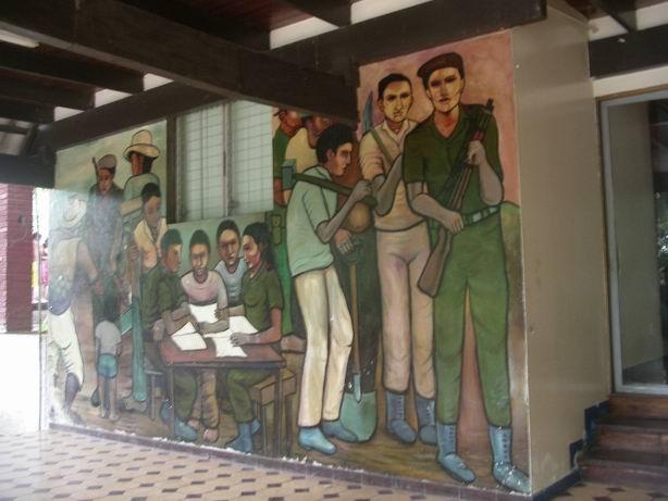 5 Academia de Policia MANAGUA, La Policia del pueblo, cm.300x600, cod.n.53