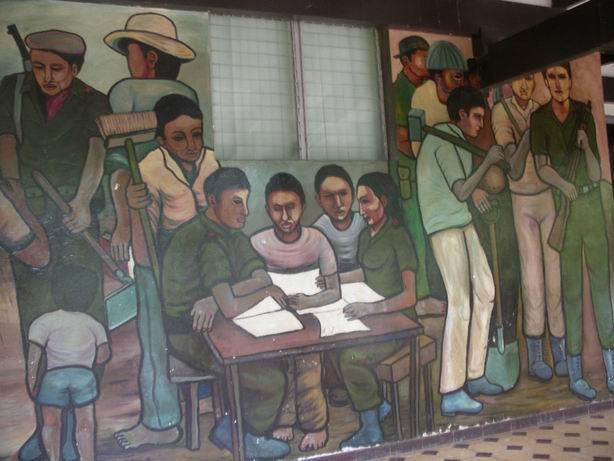 6 Academia de Policia MANAGUA, La Policia del pueblo, cm.300x600, cod.n.53