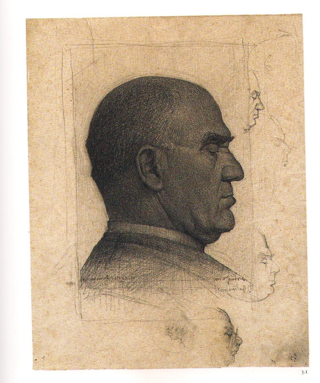 Annigoni ritratto del padre 1928 a 18 anni