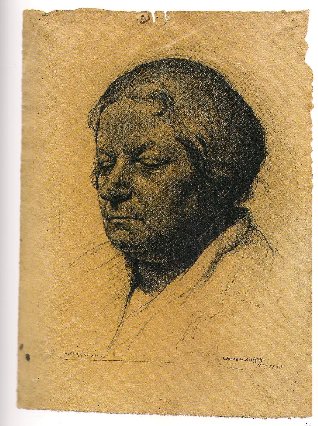 Annigoni ritratto della madre 1928 a 18 anni
