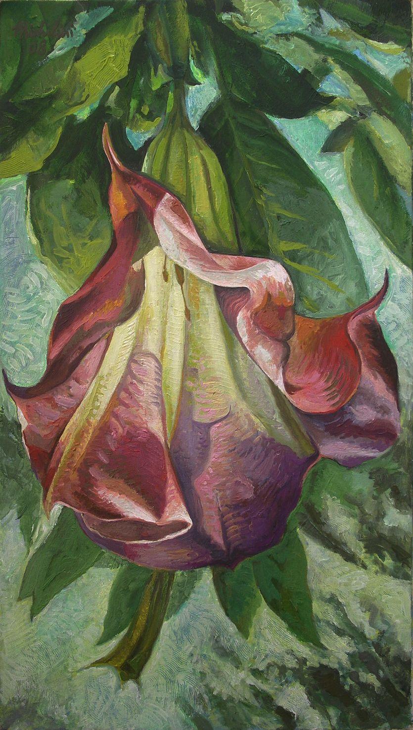Michilini, 2008, FLORIPON, olio sobre tela, cm.80x45