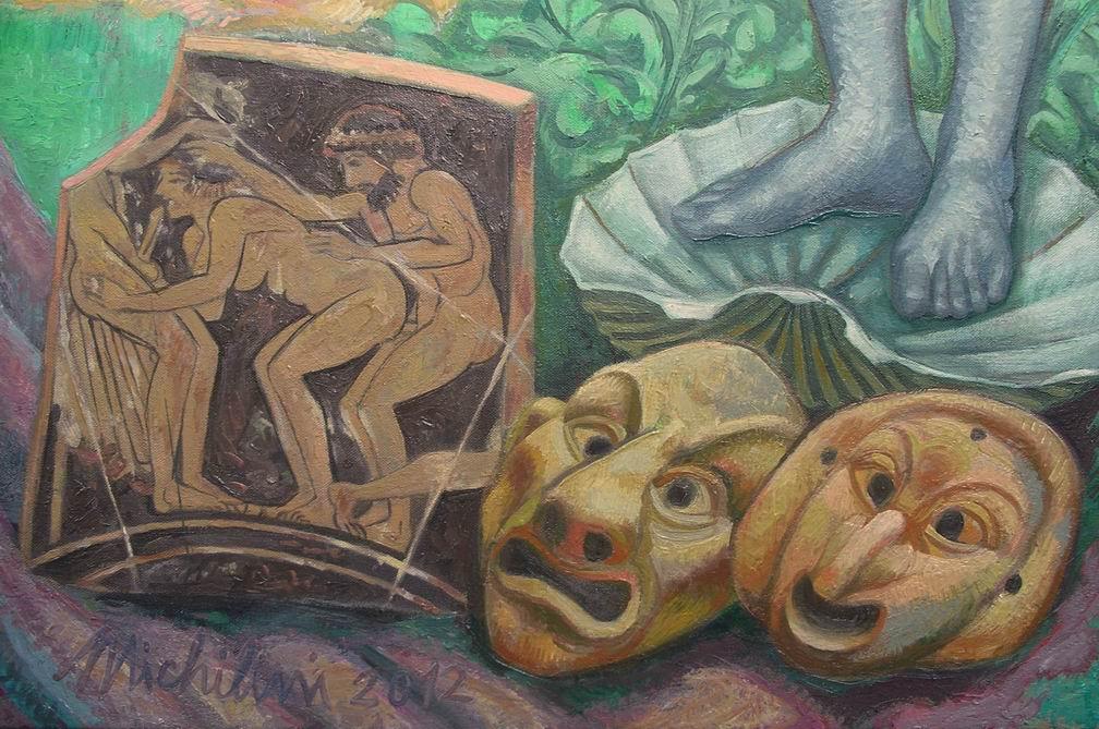 """Michilini, """"¿QUE HACER?"""", 2012, detalle: TEATRO Y ARTE EROTICO GRIEGA"""
