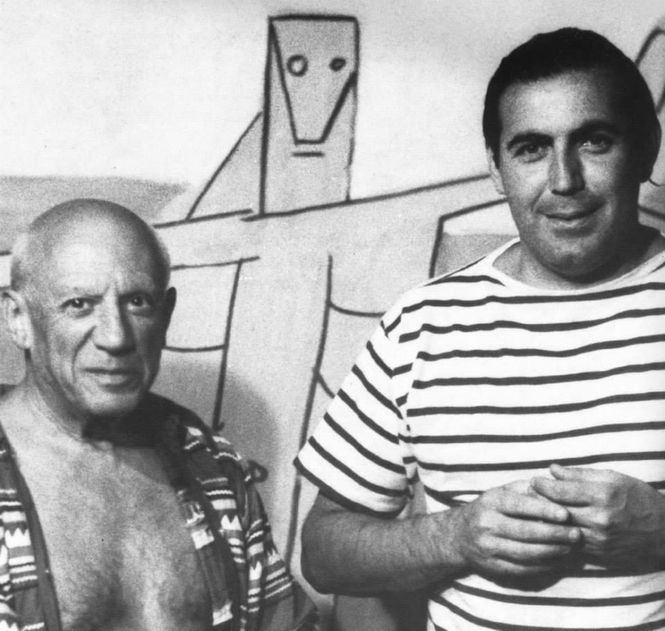 Carlos Páez Vilaró con Pablo Picasso