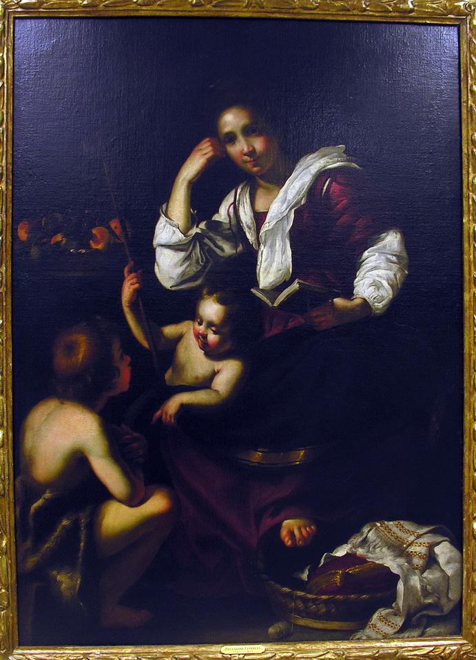 Bernardo Strozzi Madonna con bambino e s. Giovannino 1620 olio su tela 114 x88