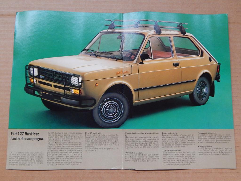 E finalmente la Fiat 127 rustica fabbricata in Brasile. Con una macchina simile da Milano siamo andati 2 volte in IRAN, e la seconda volta con più di 120 mila chilometri percorsi.....e NON abbiamo MAI avuto nessun tipo di problema meccanico (a parte varie forature di pneumatici)