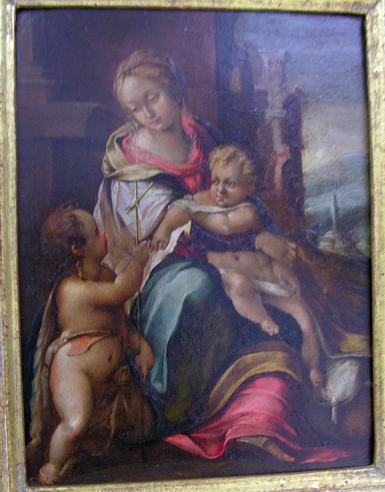 F. Barocci 1570 madonna con bambino e s. Giovannino Olio su tela 28 x 23