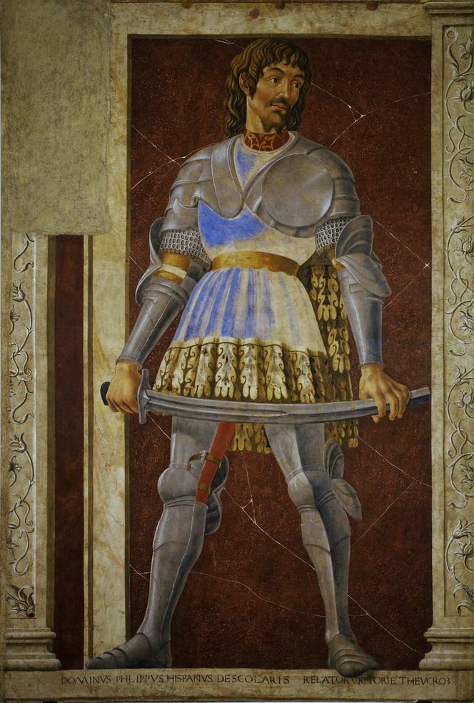 Paolo Uccello, PIPPO SPANO, 1450, affresco strappato , 250 x 154 cm, Galleria degli Uffizi, Firenze