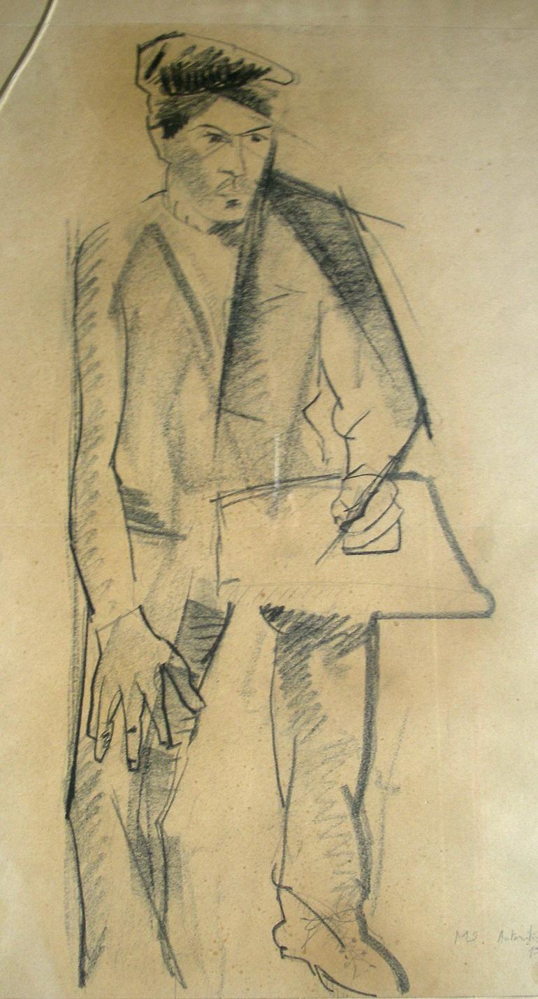 Sergio Michilini, AUTORITRATTO, 1969 cm.55x41
